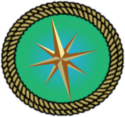 compass rose circled by rope
